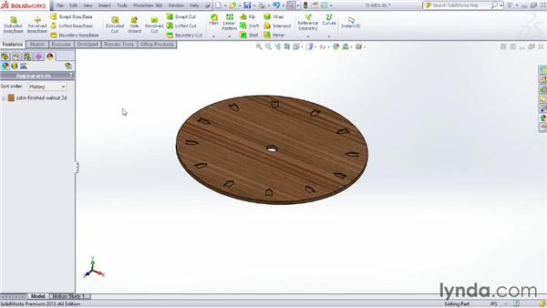Modifying texture properties: SOLIDWORKS Rendering with PhotoView 360