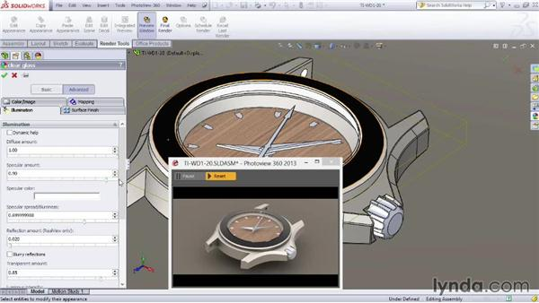 Working with glass: SOLIDWORKS Rendering with PhotoView 360