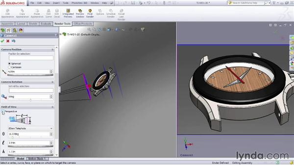 Camera options: SOLIDWORKS Rendering with PhotoView 360