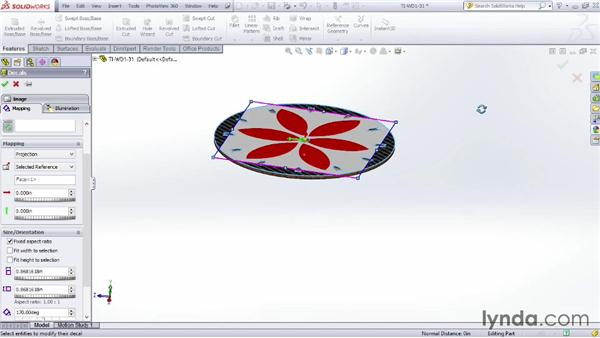 Decal image types: SOLIDWORKS Rendering with PhotoView 360