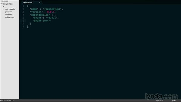 Using Node.js npm with package.json: Responsive CSS with Sass and Compass