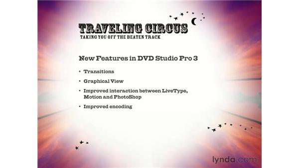 new features: DVD Studio Pro 3 Essential Training