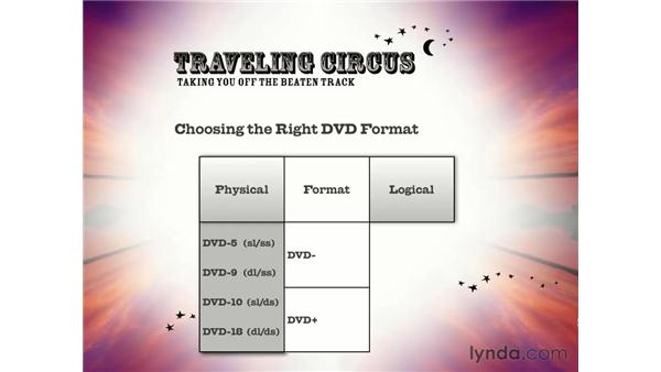 choosing the right DVD format: DVD Studio Pro 3 Essential Training
