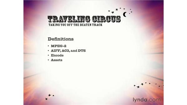 definitions: DVD Studio Pro 3 Essential Training