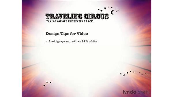 creating graphics / slides for DVD: DVD Studio Pro 3 Essential Training