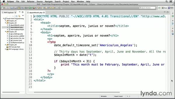 Check it out: Changing conditions to change results: Teach Kids Programming with PHP