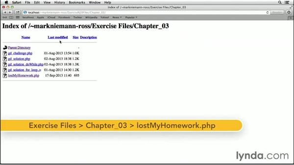 Try it: Lost my homework!: Teach Kids Programming with PHP