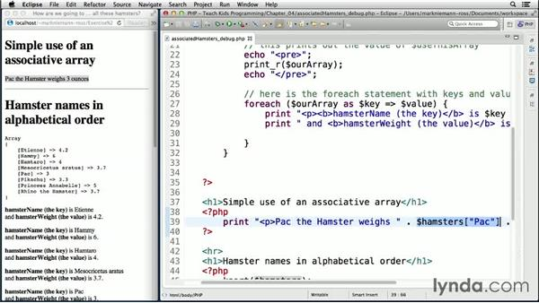 Extend it: Associated hamsters: Teach Kids Programming with PHP