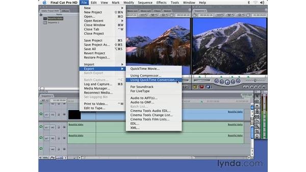 exporting sequences from FCP: DVD Studio Pro 3 Essential Training