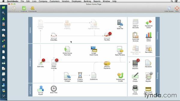 Opening and closing an existing company file: QuickBooks for Mac Essential Training