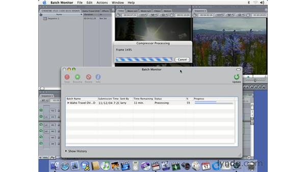 encoding using Compressor: DVD Studio Pro 3 Essential Training