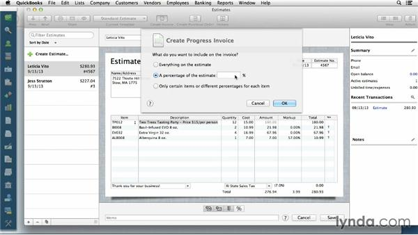 Progress Invoicing Customers - My invoices and estimates for mac