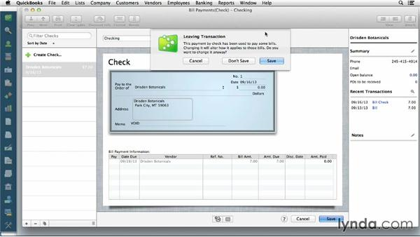 Voiding invoices and other line items: QuickBooks for Mac Essential Training