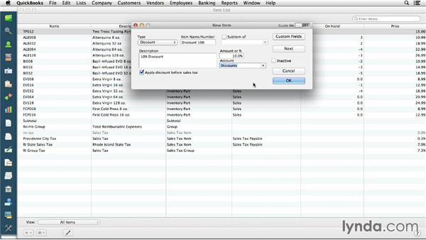 Discounts: QuickBooks for Mac Essential Training