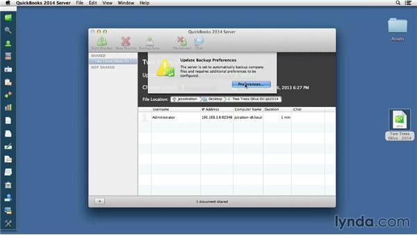 Enabling multiuser mode: QuickBooks for Mac Essential Training