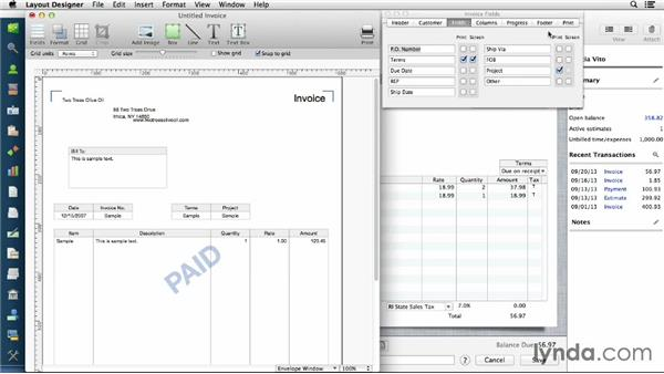 Customizing invoices and forms: QuickBooks for Mac Essential Training