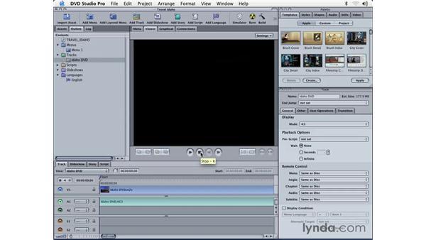 creating tracks: DVD Studio Pro 3 Essential Training