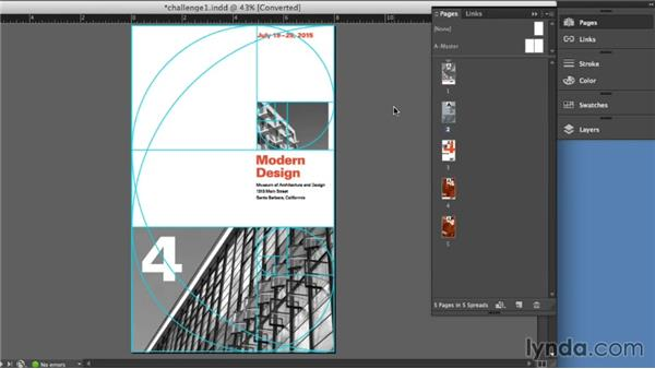 Solution: Creating layouts using the golden section: Foundations of Layout and Composition