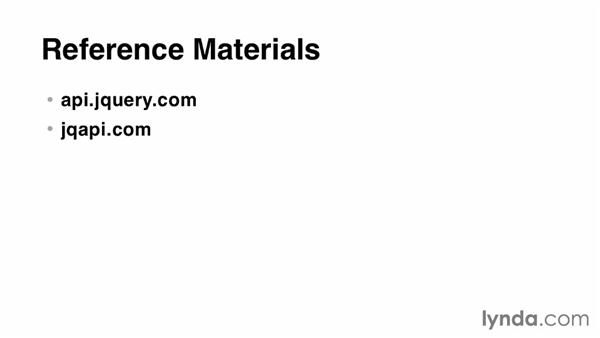 Reference materials: jQuery for Web Designers  (2013)