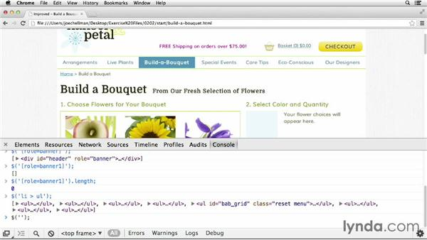 Selecting elements to use: jQuery for Web Designers  (2013)