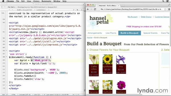 Performing multiple operations on the same line with chaining: jQuery for Web Designers  (2013)