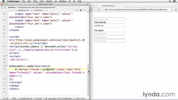 Adding, modifying, and removing content dynamically: jQuery for Web Designers  (2013)