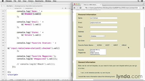 Reading and changing values: jQuery for Web Designers  (2013)