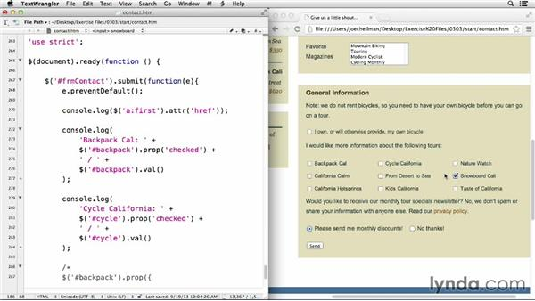 Working with HTML attributes: jQuery for Web Designers  (2013)
