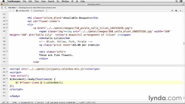 Implementing Colorbox on your site: jQuery for Web Designers  (2013)