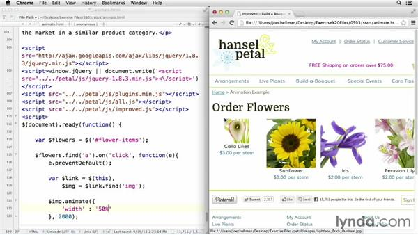 Animating numeric properties with animate(): jQuery for Web Designers  (2013)