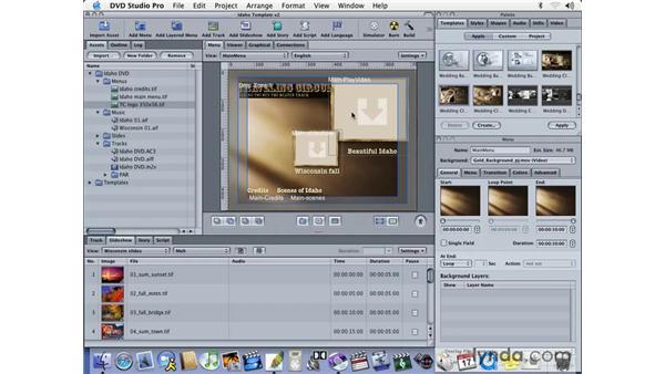 explaining drop zones: DVD Studio Pro 3 Essential Training