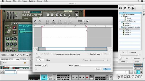 Creating a sample instrument: Up and Running with Reason 7
