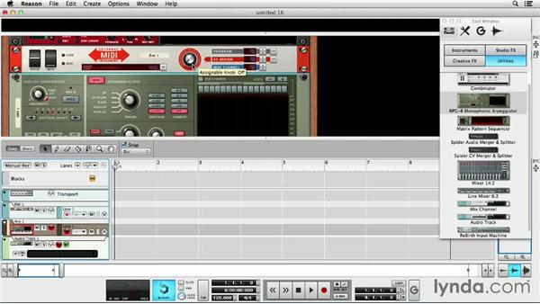 Using external MIDI instruments: Up and Running with Reason 7