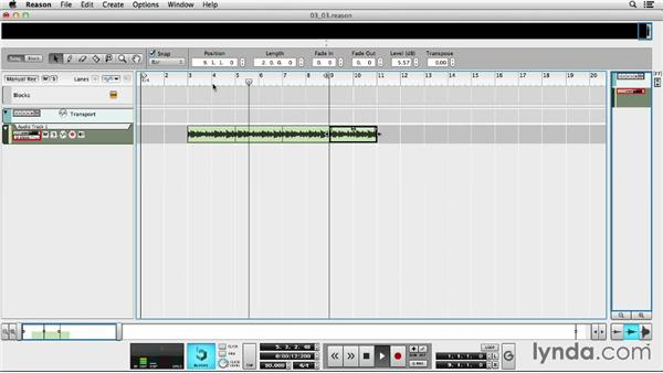Making perfect loops with the Comp Editor after joining clips: Up and Running with Reason 7