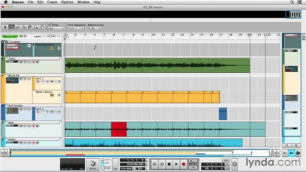 Tempo and time signature automation: Up and Running with Reason 7