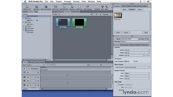 setting up the DVD: DVD Studio Pro 3 Essential Training