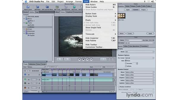 creating tracks, markers and credits: DVD Studio Pro 3 Essential Training