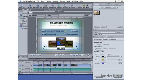 creating overlay menus: DVD Studio Pro 3 Essential Training