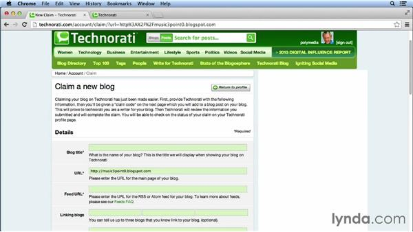 Submitting to Technorati: Bookmarking Sites for Musicians and Bands