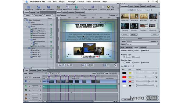 creating overlay credits: DVD Studio Pro 3 Essential Training