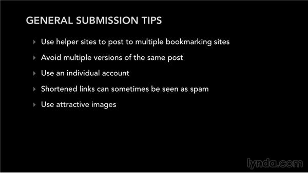 General submission tips: Bookmarking Sites for Musicians and Bands