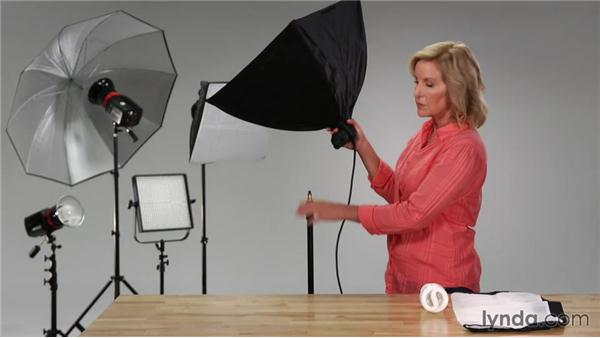 Assembling the continuous light: Up and Running with Lighting: Studio Lights and Flash