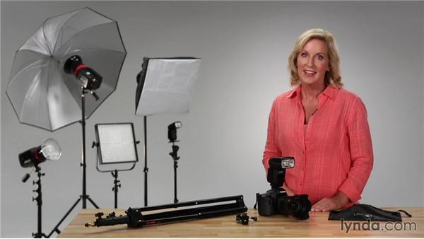 Exploring basic tools for flash: Up and Running with Lighting: Studio Lights and Flash