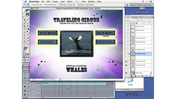 creating Photoshop layer menus: DVD Studio Pro 3 Essential Training
