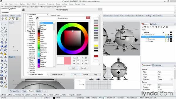 Customizing the interface: Rhino 5 Essential Training
