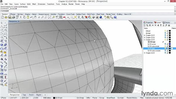 Comparing NURBS surfaces and mesh surfaces