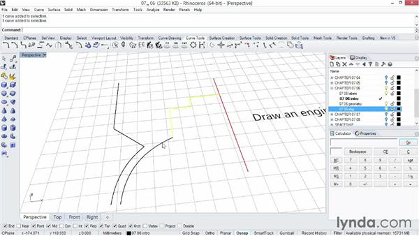 Using Revolve and Rail Revolve to create surfaces: Rhino 5 Essential Training