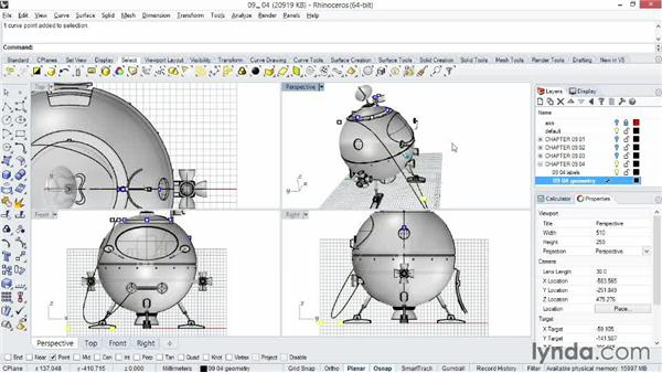 Taking advantage of the Planar modeling aid: Rhino 5 Essential Training