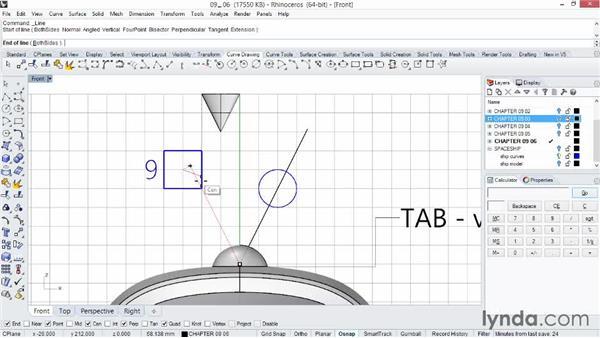 Using the cursor constraints: Rhino 5 Essential Training