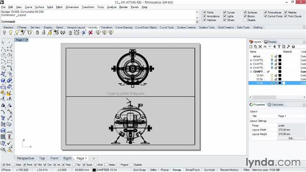Understanding the clipping plane and layout pages: Rhino 5 Essential Training